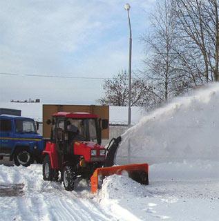 Фрезерно — роторный снегоочиститель СТ-1500 на трактор МТЗ-320 (Беларус-320)